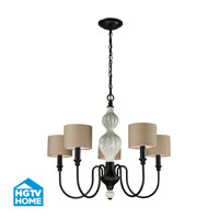 HGTV HOME Lilliana 5 Light Chandelier in Aged Bronze 31374/5