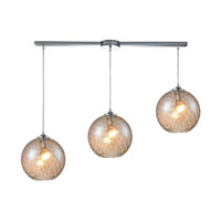HGTV HOME Watersphere 3 Light Pendant in Polished Chrome and CMP Shade 31380/3L-CMP