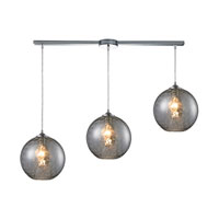 HGTV HOME Watersphere 3 Light Pendant in Polished Chrome and SMK Shade 31380/3L-SMK