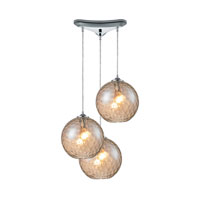 HGTV HOME Watersphere 3 Light Pendant in Polished Chrome and CMP Shade 31380/3CMP