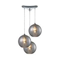 HGTV HOME Watersphere 3 Light Pendant in Polished Chrome and SMK Shade 31380/3SMK