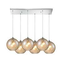 HGTV HOME Watersphere 6 Light Pendant in Polished Chrome and CMP Shade 31380/6RC-CMP