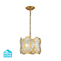 HGTV HOME Benicia 3 Light Pendant in Antique Gold Leaf 31466/3