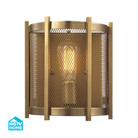 HGTV HOME Rialto 1 Light Wall Sconce in Aged Brass 31480/1