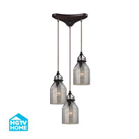 HGTV HOME Danica 3 Light Chandelier in Oil Rubbed Bronze 46009/3