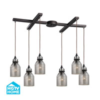 HGTV HOME Danica 6 Light Chandelier in Oil Rubbed Bronze 46009/6