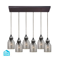 HGTV HOME Danica 6 Light Chandelier in Oil Rubbed Bronze 46009/6RC