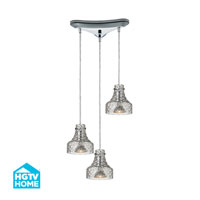 HGTV HOME Danica 3 Light Chandelier in Polished Chrome 46013/3