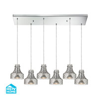 HGTV HOME Danica 6 Light Chandelier in Polished Chrome 46013/6RC