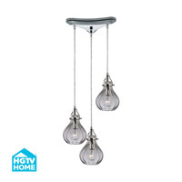 HGTV HOME Danica 3 Light Chandelier in Polished Chrome 46014/3