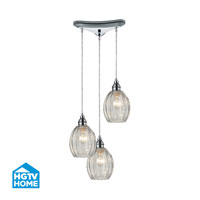 HGTV HOME Danica 3 Light Pendant in Polished Chrome 46017/3