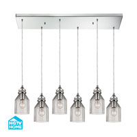 HGTV HOME Danica 6 Light Chandelier in Polished Chrome 46019/6RC