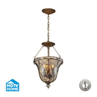 HGTV HOME Cheltham 3 Light Semi Flush in Mocha with Recessed Conversion Kit 46021/3-LA