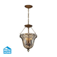 HGTV HOME Cheltham 3 Light Semi Flush in Mocha 46021/3