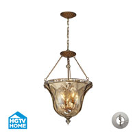 HGTV HOME Cheltham 4 Light Semi Flush in Mocha with Recessed Conversion Kit 46022/4-LA