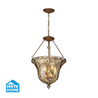 HGTV HOME Cheltham 4 Light Semi Flush in Mocha 46022/4