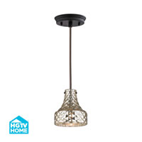 HGTV HOME Danica 1 Light Pendant in Oil Rubbed Bronze 46023/1
