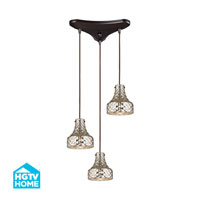 HGTV HOME Danica 3 Light Chandelier in Oil Rubbed Bronze 46023/3