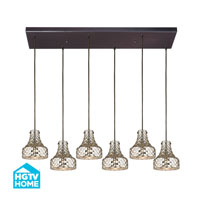 HGTV HOME Danica 6 Light Chandelier in Oil Rubbed Bronze 46023/6RC