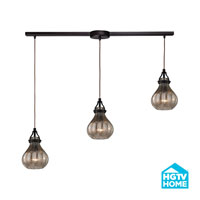 HGTV HOME Danica 3 Light Chandelier in Oil Rubbed Bronze 46024/3L