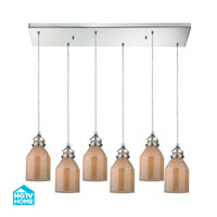 HGTV HOME Danica 6 Light Chandelier in Polished Chrome 46029/6RC
