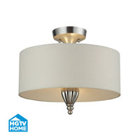 HGTV HOME Martique 2 Light Semi Flush in Silver Leaf 46031/3
