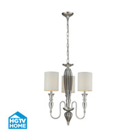 HGTV HOME Martique 3 Light Chandelier in Silver Leaf 46032/3