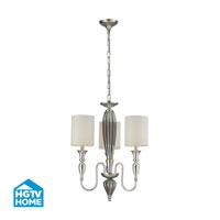 HGTV HOME Martique 3 Light Chandelier in Silver Leaf 46032/3