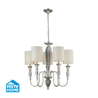 HGTV HOME Martique 5 Light Chandelier in Silver Leaf 46034/5