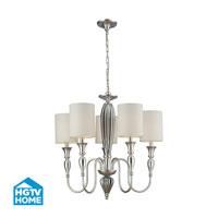 HGTV HOME Martique 5 Light Chandelier in Silver Leaf 46034/5