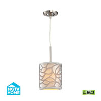 HGTV HOME Autumn Breeze LED Pendant in Brushed Nickel 53000/1-LED