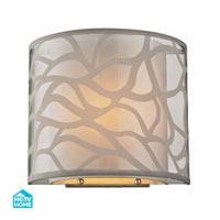 HGTV HOME Autumn Breeze 1 Light Wall Sconce in Brushed Nickel 53002/1