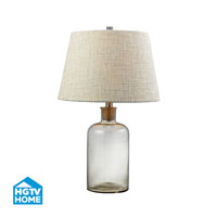 HGTV HOME Glass Table Lamp With Cork Neck in Clear HGTV137