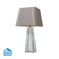 HGTV HOME Seeded Glass Table Lamp With Square Shade in Clear HGTV146