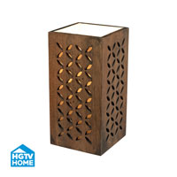 HGTV HOME Wooden Open Work Up Light in Cameron Dark Stain HGTV155