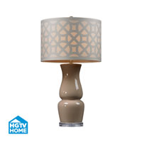 HGTV HOME Ceramic Table Lamp in Ballygowan Taupe HGTV158