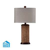 HGTV HOME Wooden Table Lamp in Natural Cork / Brown HGTV159