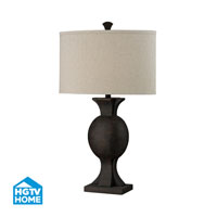 HGTV HOME 1 Light Table Lamp in Burnished Bronze HGTV226