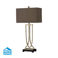 HGTV HOME 1 Light Table Lamp in Antique Silver Leaf HGTV229