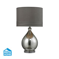 HGTV HOME 1 Light Table Lamp in Mercury Glass HGTV252