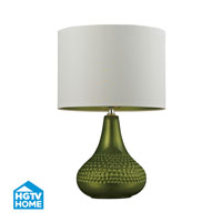 HGTV HOME 1 Light Table Lamp in Lime Green HGTV266