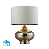 HGTV HOME 1 Light Table Lamp in Gold Mercury Glass and Polished Nickel HGTV269