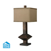 HGTV HOME 1 Light Table Lamp in Burnished Bronze HGTV305