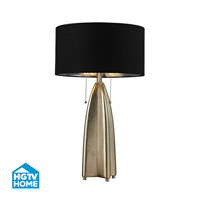 HGTV HOME 2 Light Table Lamp in Gold Leaf With Antique HGTV311