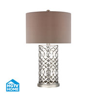 HGTV HOME London 1 Light Table Lamp in Polished Nickel HGTV337