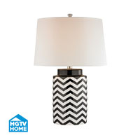 HGTV HOME Struthers 1 Light Table Lamp in Black and White HGTV339