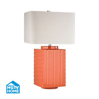 HGTV HOME Booker 1 Light Table Lamp in Orange HGTV340