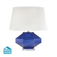 HGTV HOME Guild 1 Light Table Lamp in Mercury Sapphire HGTV341