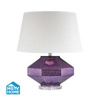 HGTV HOME Guild 1 Light Table Lamp in Mercury Amethyst HGTV342
