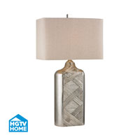 HGTV HOME Chestnutt 1 Light Table Lamp in Silver Leaf HGTV345